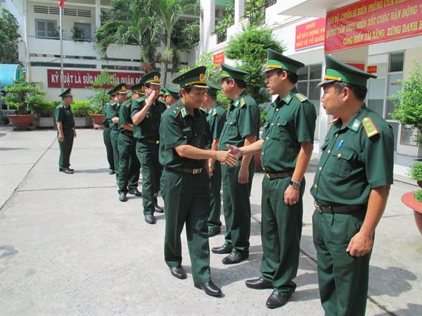 Thiếu Tướng Nguyễn Văn Nam Kiểm Tra Lam Việc Tại Bđbp Tp Hồ Chi Minh