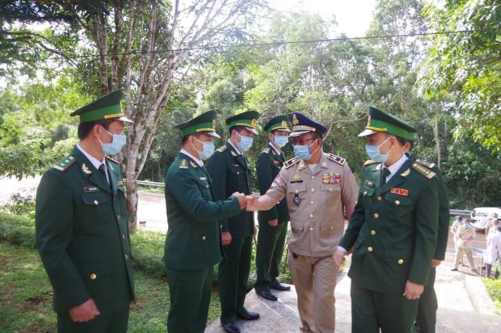 Bộ Chỉ huy BĐBP Đăk Nông hội đàm với Ty Công an tỉnh Mondulkiri