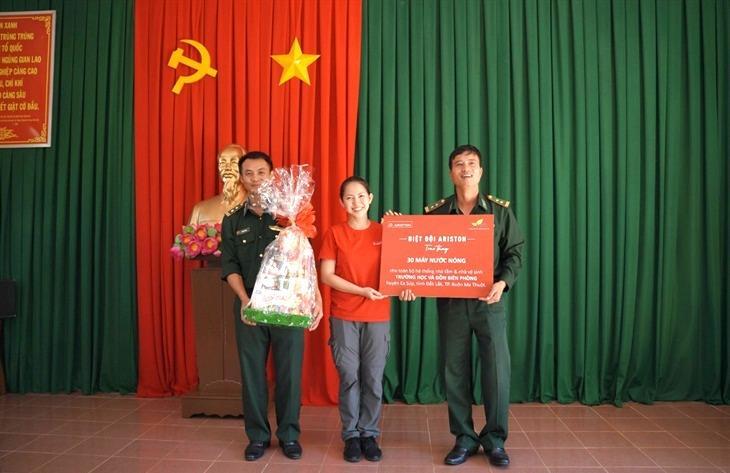 Đắk Lắk: Hỗ trợ hệ thống máy nước nóng cho các đồn Biên phòng