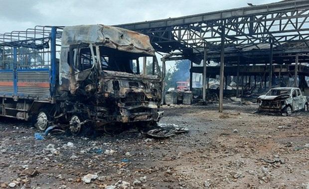 Điều tra vụ hỏa hoạn tại khu vực cửa khẩu Đen Sa Vẳn