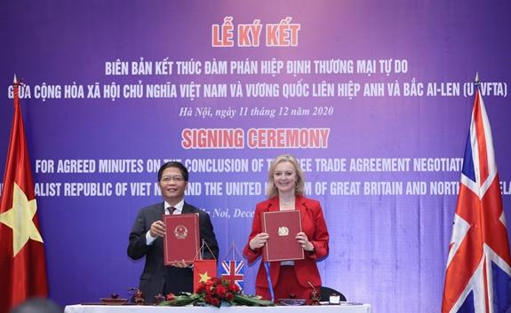 Hiệp định UKVFTA sẽ chính thức có hiệu lực từ 23 giờ ngày 31-12