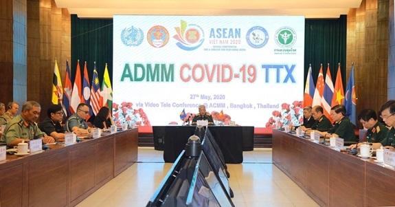 Quân y các nước ASEAN diễn tập trực tuyến cơ chế xử lý tình huống về phòng, chống dịch Covid-19