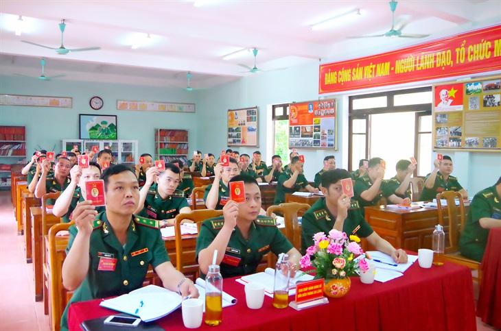 Các chi, đảng bộ cơ sở trong Đảng bộ BĐBP Lạng Sơn tổ chức thành công Đại hội nhiệm kỳ 2020 2025