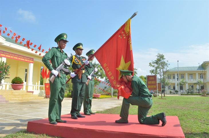 Các đơn vị BĐBP tổ chức tuyên thệ chiến sĩ mới năm 2020