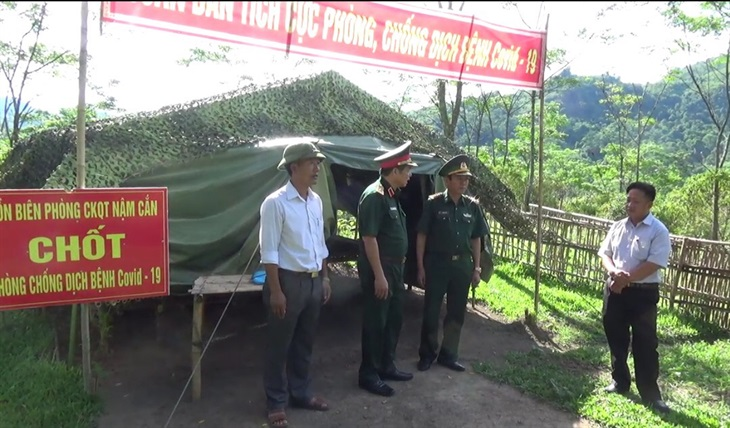 Đoàn công tác Bộ Quốc phòng kiểm tra công tác phòng, chống dịch tại Nghệ An