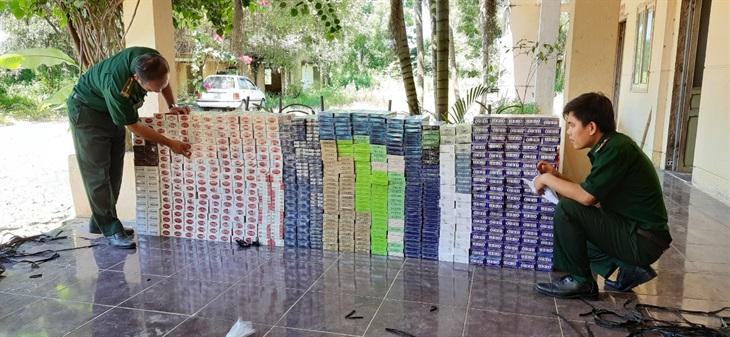 BĐBP Tây Ninh bắt giữ 6.140 gói thuốc lá nhập lậu