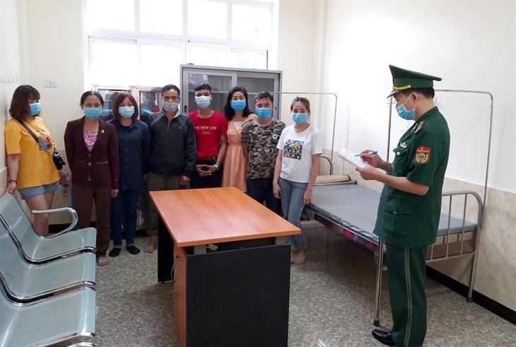 Đồn Biên phòng Tân Thanh phát hiện 8 công dân nhập cảnh trái phép