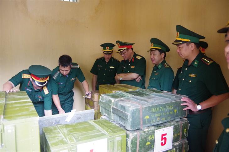 Kiểm tra công tác quản lý vũ khí, trang bị kỹ thuật tại Hà Giang