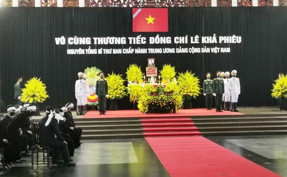 Bắt đầu tổ chức trọng thể Lễ viếng nguyên Tổng Bí thư Lê Khả Phiêu
