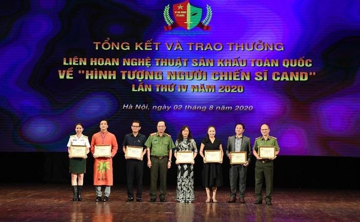 Trao giải Liên hoan nghệ thuật về Hình tượng người chiến sĩ Công an nhân dân