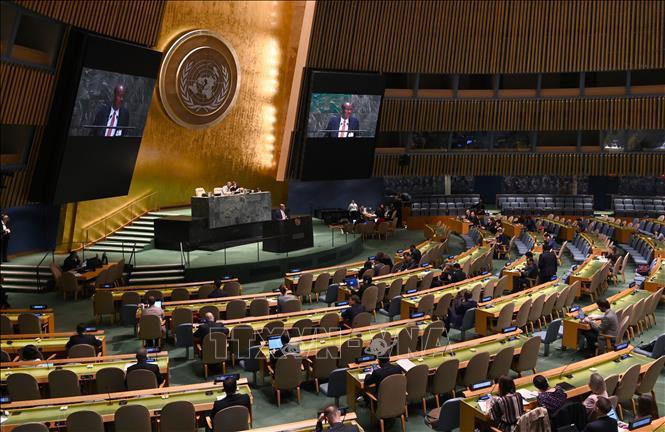 Đại hội đồng Liên hợp quốc thông qua nghị quyết về ứng phó dịch viêm đường hô hấp cấp COVID-19