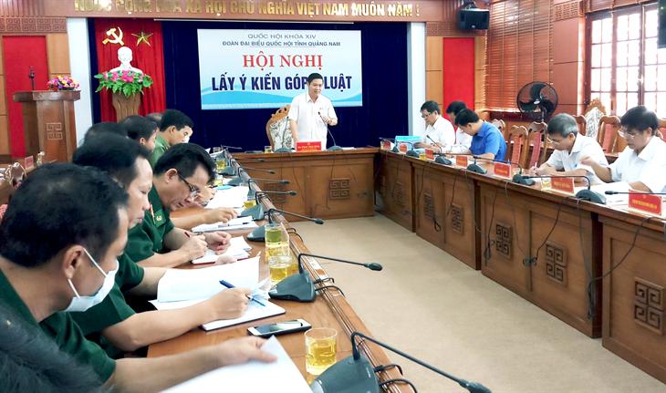 Quảng Nam: Lấy ý kiến góp ý dự thảo Luật Biên phòng Việt Nam