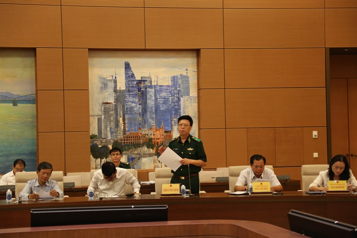 Hội đồng Dân tộc của Quốc hội họp thảo luận về dự thảo Luật Biên phòng Việt Nam