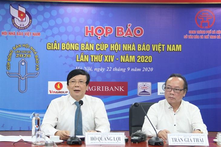 Tổ chức Giải bóng bàn Cúp Hội nhà báo Việt Nam lần thứ XIV năm 2020
