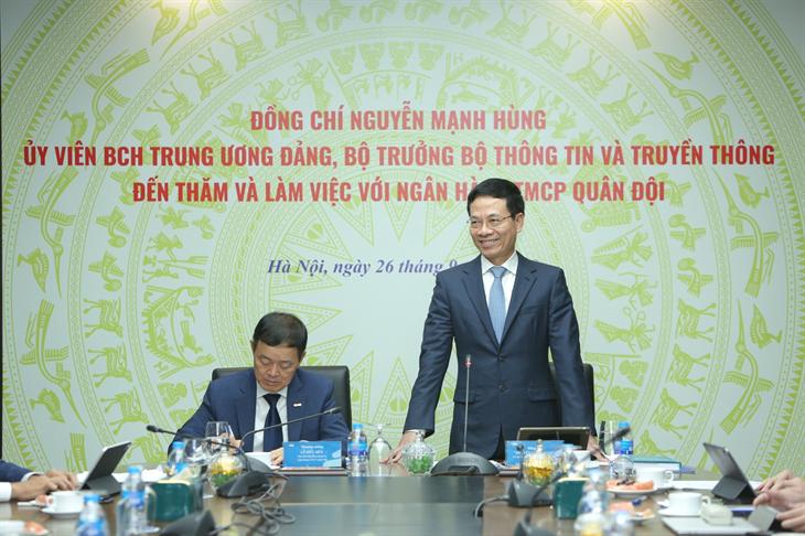 Bộ trưởng Bộ Thông tin và Truyền thông: MB có lợi thế tiên phong về chuyển đổi số
