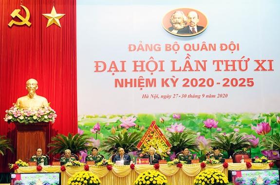 Khai mạc trọng thể Đại hội Đại biểu Đảng bộ Quân đội lần thứ XI, nhiệm kỳ 2020-2025