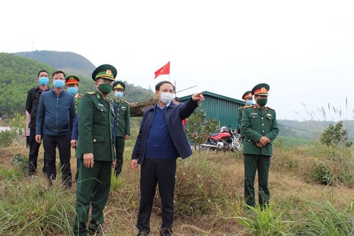 Kiểm tra công tác phòng, chống dịch Covid-19 và phòng, chống tội phạm tuyến biên giới Móng Cái