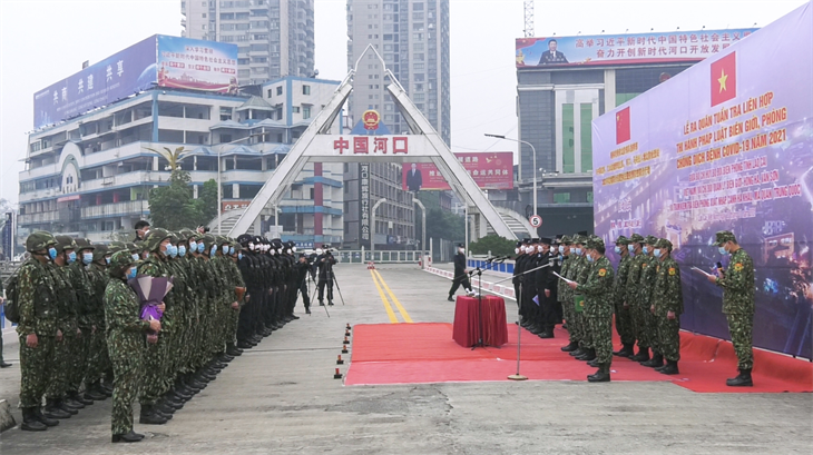 Ra quân tuần tra liên hợp tuyến biên giới Lào Cai-Vân Nam