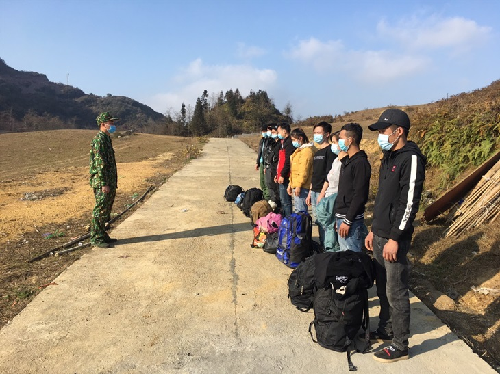 BĐBP Hà Giang phát hiện và tiếp nhận 32 công dân từ Trung Quốc về nước