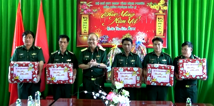 Bình Phước: Lãnh đạo Quân khu 7 thăm, chúc Tết các chốt phòng, chống dịch trên tuyến biên giới huyện Bù Gia Mập
