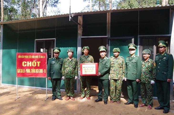 Cán bộ, chiến sĩ BĐBP đồng sức, đồng lòng, quyết tâm ngăn chặn không để dịch bệnh lây lan qua biên giới