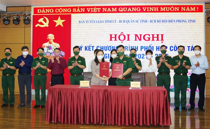 Quảng Ninh: Ban Tuyên giáo Tỉnh ủy ký kết chương trình phối hợp với Bộ Chỉ huy Quân sự và Bộ Chỉ huy BĐBP