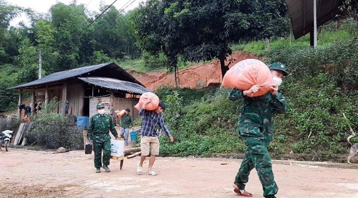 BĐBP Thanh Hóa tăng cường lực lượng khắc phục sạt lở do mưa lớn