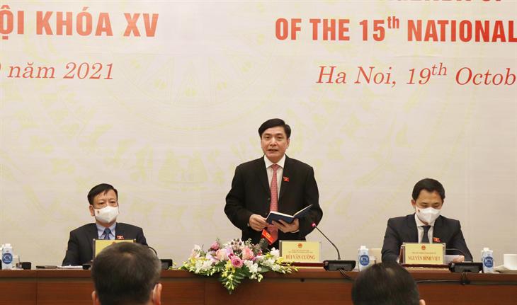 Kỳ họp thứ 2, Quốc hội khóa XV được khai mạc vào ngày 20-10
