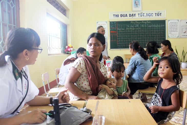 Phụ nữ BĐBP hướng về người nghèo biên giới