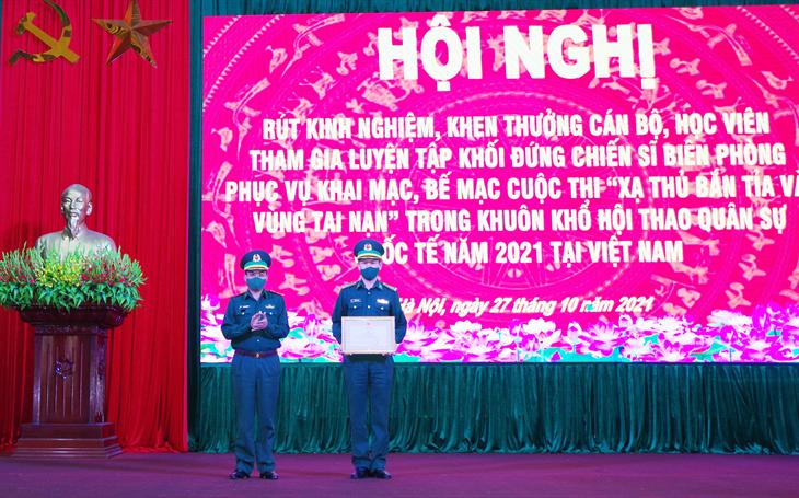 Học viện Biên phòng hoàn thành xuất sắc nhiệm vụ trong khuôn khổ Hội thao Quân sự quốc tế năm 2021 tại Việt Nam