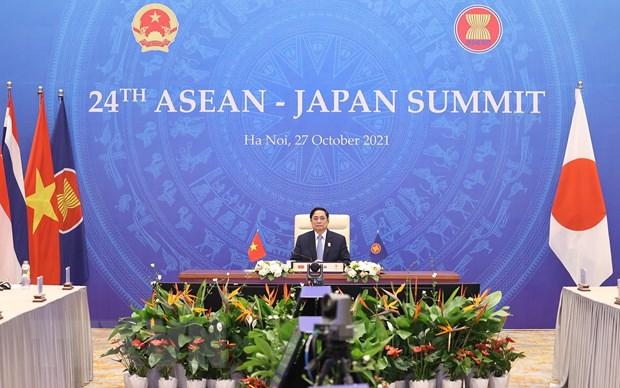 Thủ tướng đề nghị Nhật Bản hỗ trợ ASEAN thu hẹp khoảng cách phát triển