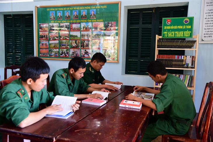 Xây dựng văn hóa đọc ở đồn Biên phòng