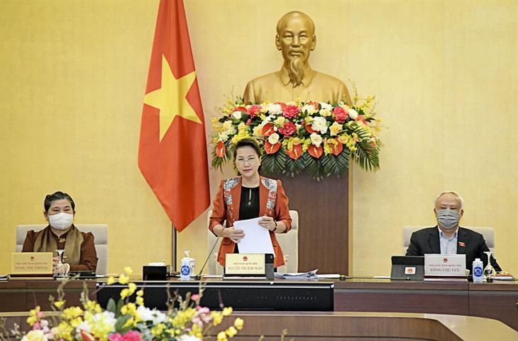 Ủy ban Thường vụ Quốc hội xem xét, cho ý kiến báo cáo công tác nhiệm kỳ của Chính phủ