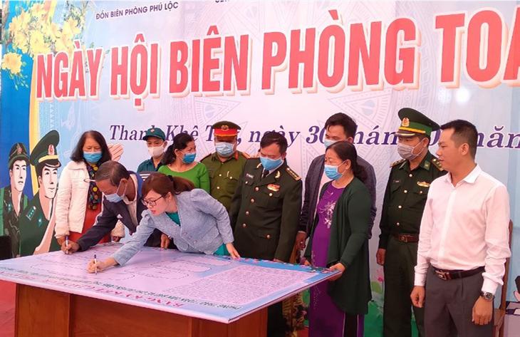 Dấu ấn Ngày hội Biên phòng toàn dân ở Thanh Khê Tây