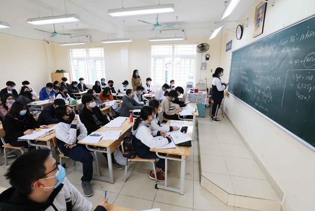 Học sinh trên địa bàn thành phố Hà Nội trở lại trường từ ngày 2-3