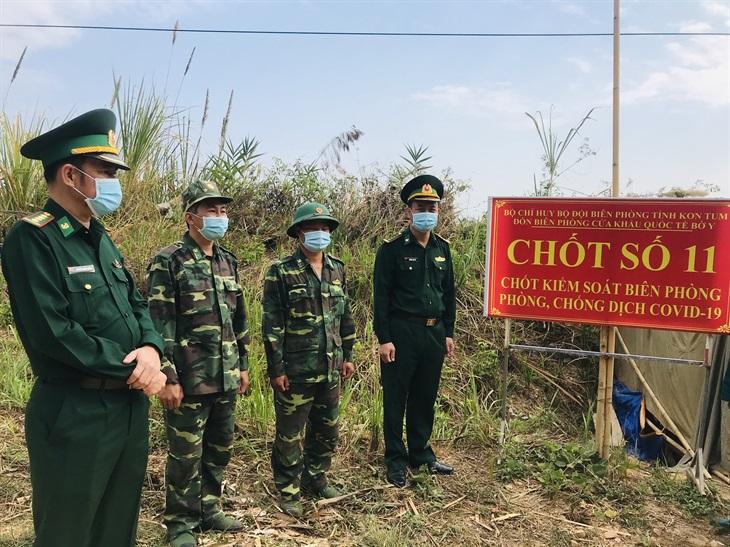 Kiểm tra công tác phòng, chống dịch Covid-19 trên tuyến biên giới Kon Tum