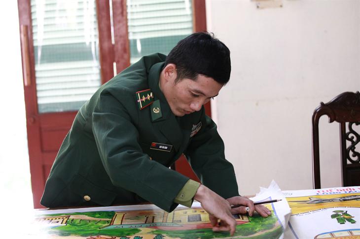 Trung úy Biên phòng được tuyên dương đảng viên trẻ xuất sắc