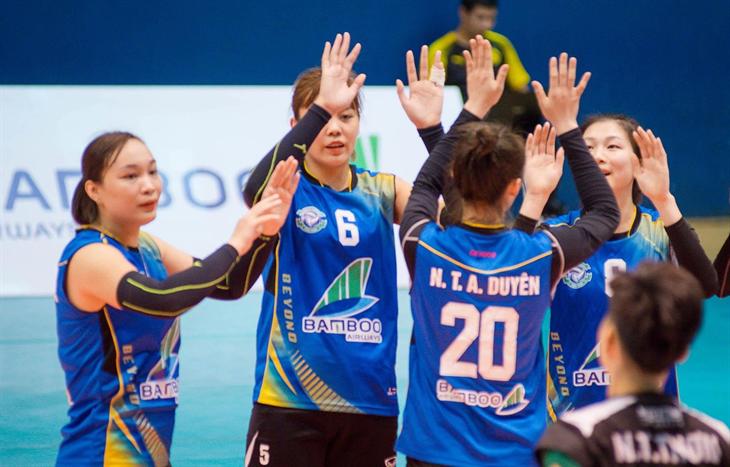 Đội bóng chuyền nữ Bamboo Airways Vĩnh Phúc có trận ra mắt thành công