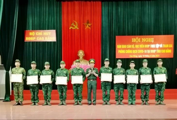 Cán bộ, học viên Học viện Biên phòng hoàn thành tốt nhiệm vụ trên biên giới Cao Bằng