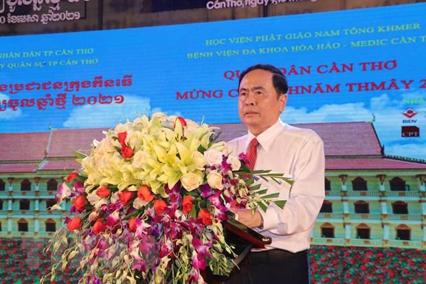 Rộn ràng Tết quân dân mừng Chol Chnam Thmay năm 2021 tại Cần Thơ
