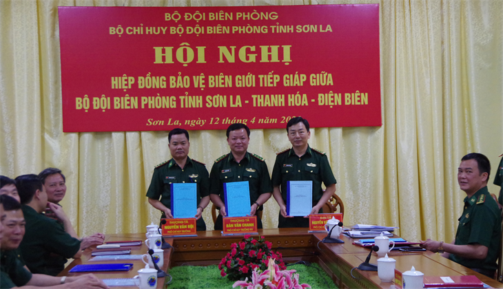 Hiệp đồng bảo vệ biên giới tiếp giáp giữa BĐBP các tỉnh Sơn La, Thanh Hóa, Điện Biên