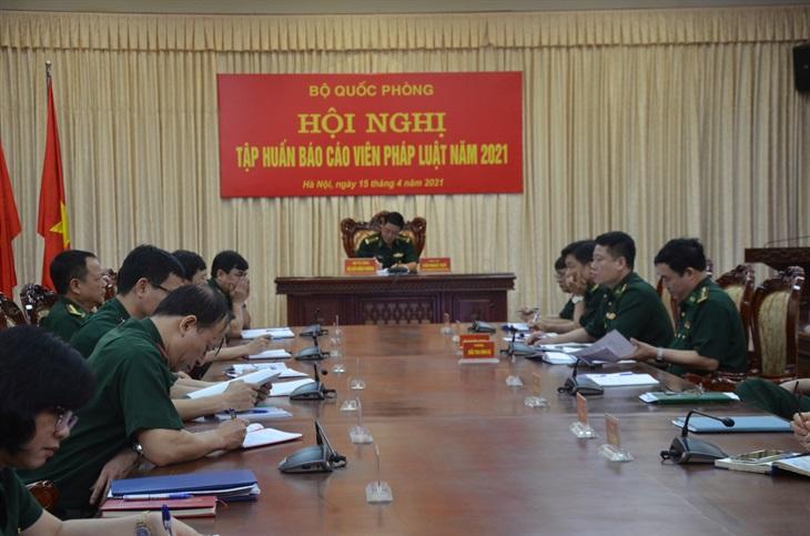 Nâng cao chất lượng công tác của đội ngũ báo cáo viên pháp luật toàn quân