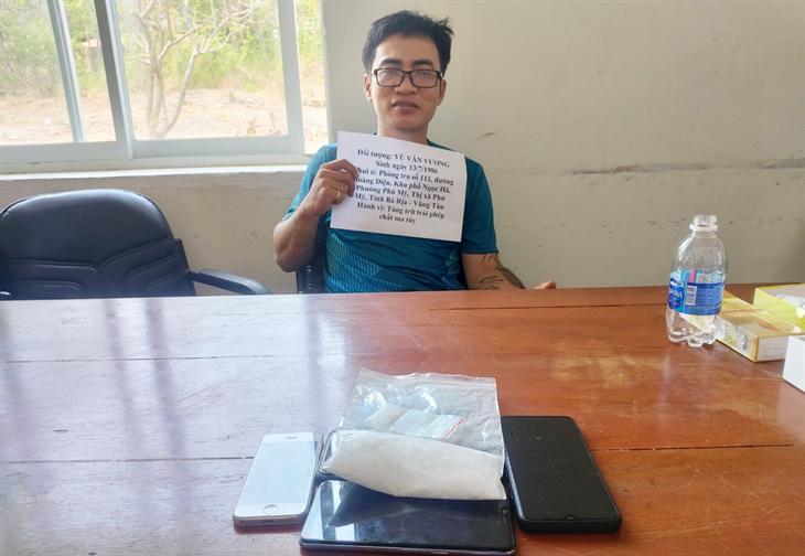 BĐBP Bà Rịa - Vũng Tàu bắt giữ 1 đối tượng tàng trữ ma túy đá
