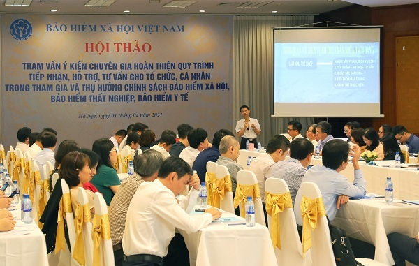 Bảo hiểm xã hội Việt Nam tham vấn ý kiến chuyên gia về quy trình tiếp nhận, tư vấn, hỗ trợ các tổ chức và cá nhân