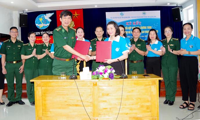 Tiếp tục phối hợp thực hiện Chương trình Đồng hành cùng phụ nữ biên cương trên biên giới tỉnh Quảng Bình