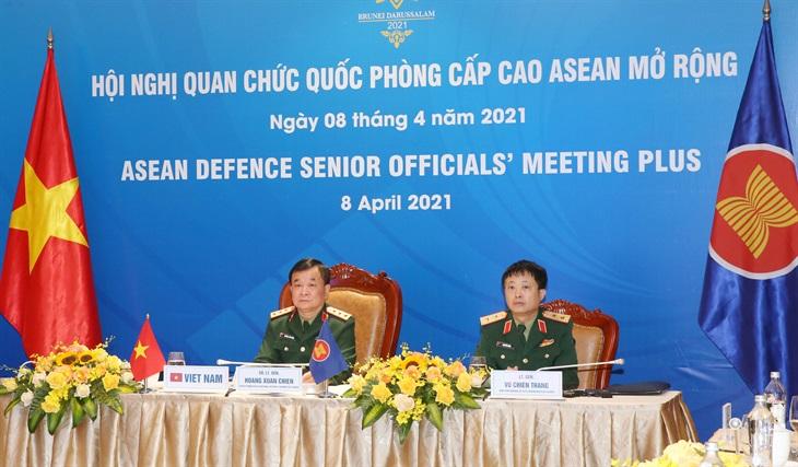 Hội nghị trực tuyến Quan chức Quốc phòng cấp cao các nước ASEAN mở rộng