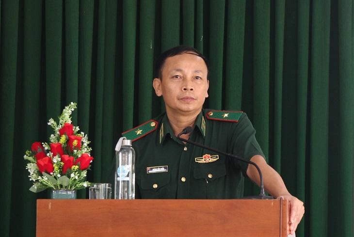 Thiếu tướng Hoàng Hữu Chiến tiếp xúc cử tri huyện Chợ Mới, tỉnh An Giang