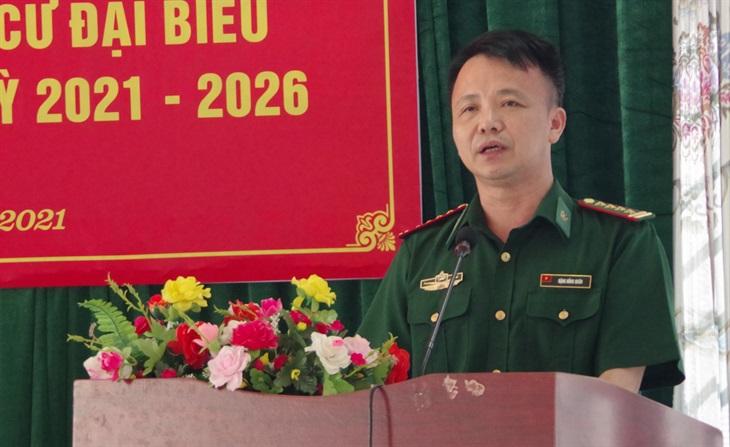 Phó Chính ủy BĐBP Cao Bằng tiếp xúc cử tri huyện Hà Quảng