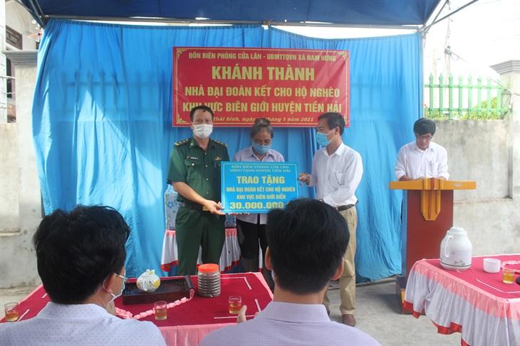 BĐBP Thái Bình bàn giao nhà Đại đoàn kết cho hộ nghèo
