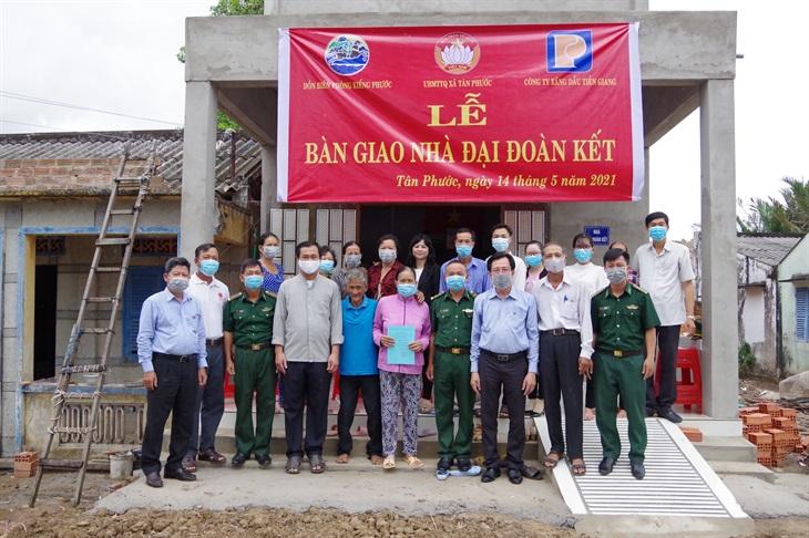 BĐBP Tiền Giang bàn giao nhà Đại đoàn kết cho hộ gia đình đặc biệt khó khăn